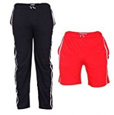 TeesTadka Men's Cotton TrackPants for Men and Shorts for Men Combo Offers Pack Of 2 for Rs. 697
