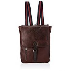 Tortoise Dark Brown Leather Laptop Backpacks (TOR032DB) for Rs. 3,286