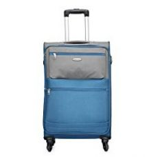 Aristocrat Evoque Polyester 76 cms Blue Soft Sided Suitcase (STEVOW76BLU) for Rs. 5,490