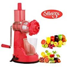 Buy Slings Fruit And Vegetable Steel Handle Juicer with Vaccum Locking System, Pink from Amazon