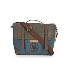 Buy The House Of Tara Star Laptop and Office Bag (Combat Blue, Coffee Brown) from Amazon
