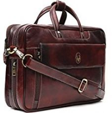 Buy WildHorn 100 % Genuine Leather Brown 16 inch Laptop Messenger Bag from Amazon