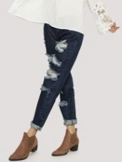 GLAMOROUS Ripped And Distress Jeans for Rs. 998