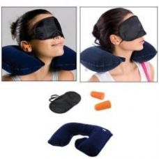 Three Tourists Treasures 3 In 1 Travel Set,neck Cushion Eye Mask Ear Plug for Rs. 279