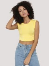 Buy KOOVS Twisted Cuff Boxy Crop Top for Rs. 297