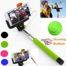 Buy Pocket Monopod Selfie Stick With Aux Cable Supports All Android Phones And Iphones for Rs. 155