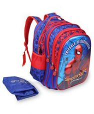 Flat 20% off on Marvel Spiderman Homecoming School Bag With Cover Red...