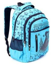 Get 10% off on Disney Frozen Sisters Shine School Bag Blue - 19 Inch