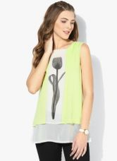 Buy W Green Printed Top from Jabong