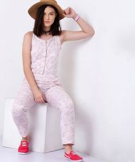 Get 50% off on Yepme Alice Linen Jumpsuit - Pink