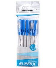 Buy Nataraj Super X Pens Pack of 5 - Blue from FirstCry
