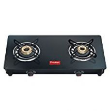 Prestige Marvel Glass 2 Burner Gas Stove, Black for Rs. 3,150