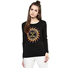 Cenizas Women Black Printed T-shirt for Rs. 399