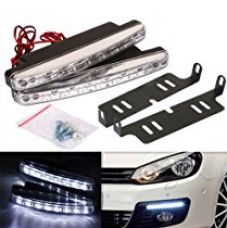 Buy AutoSun White 8 LED Daytime Super Running Lights Pair (2 Strips) from Amazon
