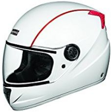 Buy Studds Professional Full Face Helmet (White and Red , L) from Amazon