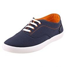 Globalite Men's Canvas sneaker ENIGMA NAVY/ORANGE GSC1107 UK/IN 8 for Rs. 475