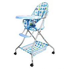 Tiffy and Toffee Baby Etiquette High Chair with wheels (Indigo Blue) for Rs. 2,479