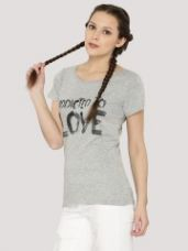 Buy J.D.Y Front Print T-Shirt for Rs. 313