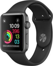 Get 16% off on Apple Watch Series 1 - 38 mm Space Gray Aluminium Case with Black Sport Band  (Black Strap Medium)