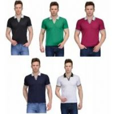 Buy Rico Sordi set of 5 polypolo t-shirt combo(RSD1114set of 5) from ShopClues