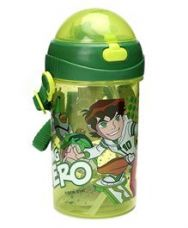 Flat 10% off on Ben 10 Printed Sipper Bottle Green - 500 ml