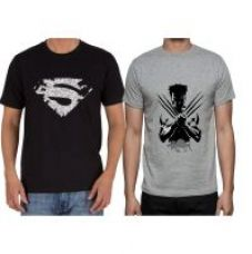 Get 70% off on Man of Steel and Wolverine Tees combo