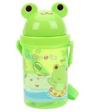 Buy Sipper Water Bottle With Slide Open Lid Frog Print for Rs. 88