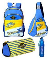 Get 68% off on Karban Multicolour School Bag with Tuition Bag, Bottle And Pouch