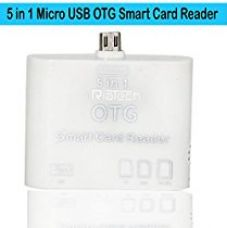 RiaTech® WHITE 5 in 1 Micro USB OTG Card Reader SD M2 TF Connection Kit for Smart Phones & Tab for Rs. 289