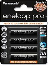 Buy Panasonic Eneloop Pro upto 2550mAh 4xAA Rechargeable Ni-MH Battery for Rs. 975