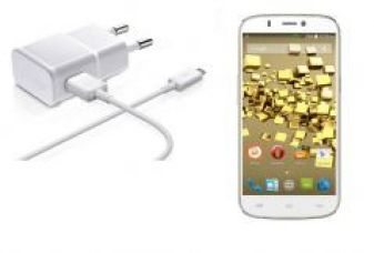 Flat 58% off on Micro USB White Charger for Micromax Canvas 4 A210