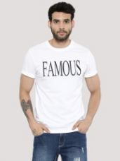 Flat 40% off on KOOVS Print T-Shirt In The Style Of Jared Leto