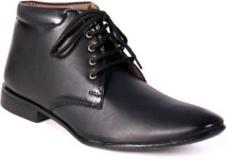 Buy World Walker Best High Ankle Shoes Lace Up(Black) for Rs. 749