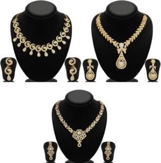 Buy Sukkhi Zinc Jewel Set  (Gold) from Flipkart