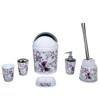 Home Belle Purple ABS Plastic Bathroom Accessories - Set of 6 for Rs. 949