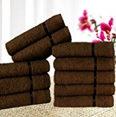 Buy Story@Home Solid 10 Piece 450 GSM Cotton Face Towel Set - Brown from Amazon