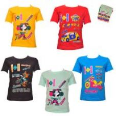 Get 70% off on Kids Printed Cotton Tshirts Combo-Pack Of 5