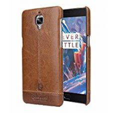 Buy Pierre Cardin Genuine Leather back Cover For oneplus 3t (1+3) (Brown) by jazz from Amazon