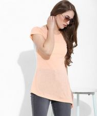 Buy Yepme Doria Asymmetrical Top - Peach from Yepme
