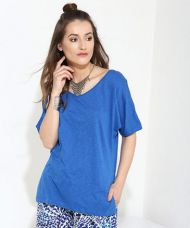 Buy Yepme Tiffany Asymmetrical Top - Blue from Yepme