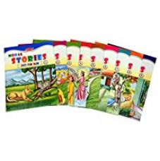 Flat 27% off on Set of 9 Moral Story Books with 89 Stories.