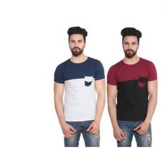 Get 65% off on Stylogue Multicolor Cotton Pack Of 2 T-Shirt