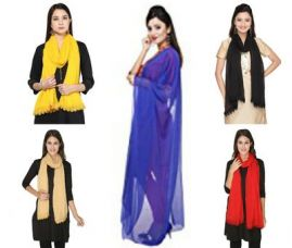 Rs  Net Lace Dupattas ( set of 5) for Rs. 165