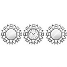 Buy TiedRibbons Decorative Wall Clock for Living Room with Mirrors Set from Amazon