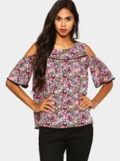 Buy Honey by Pantaloons Women Multicolor Printed Regular Fit Top from Abof