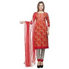Buy DivyaEmporio Women's Faux Cotton Printed Unstitched Salwar Suit Dress Material from Amazon