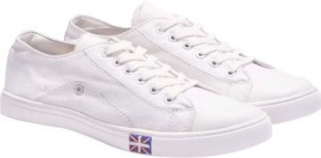 Buy Boysons white canvas Sneakers(White) for Rs. 449