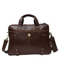 Hammonds Flycatcher Latest Brown Leather Office Bag for Rs. 2149