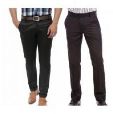 Flat 50% off on Wajbee Men's Chino Pants (Pack of 2)