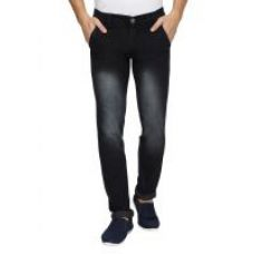 Buy Wajbee Black Slim Fit Mid Rise Mens Jeans for Rs. 399